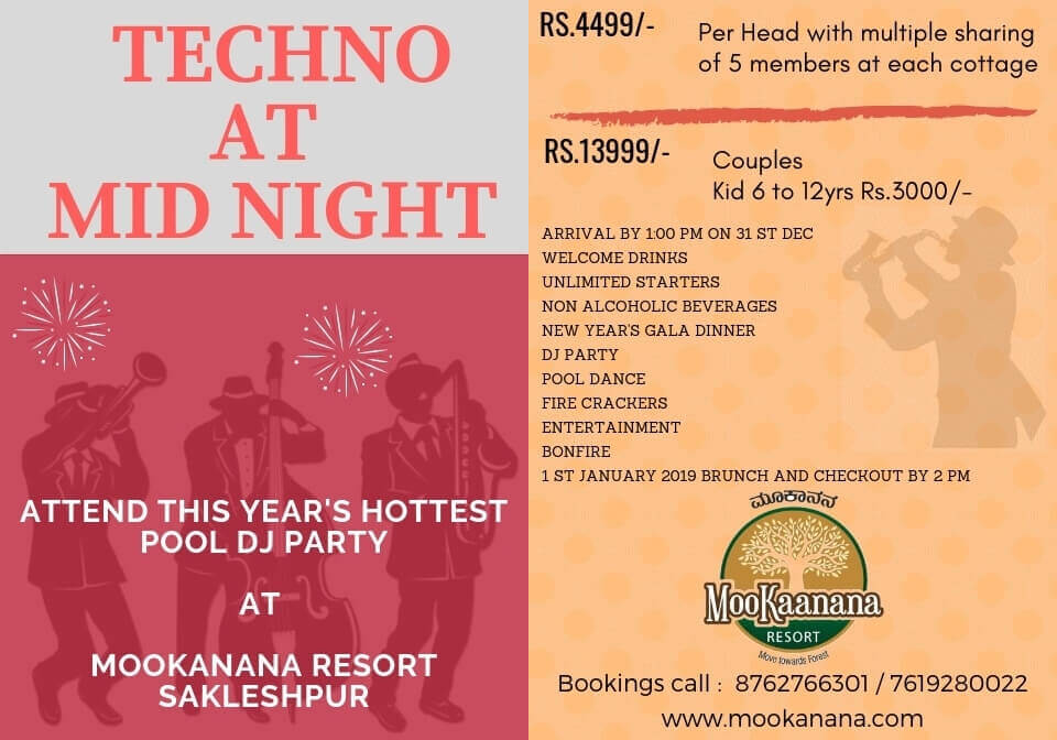 New Year Party in Sakleshpur   New Year Party 2020 Bangalore